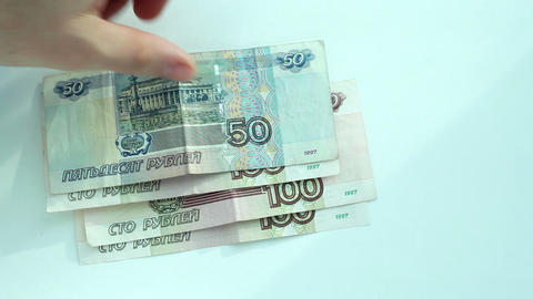 Currency exchange: rubles to dollar Footage