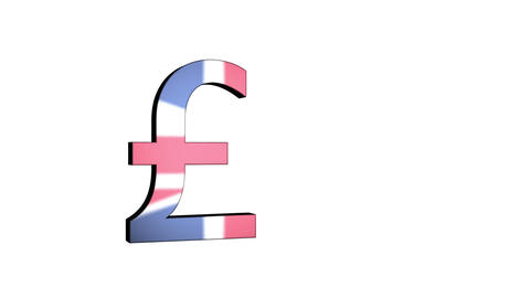 English Pound Sterling Flag Reflection stock footage