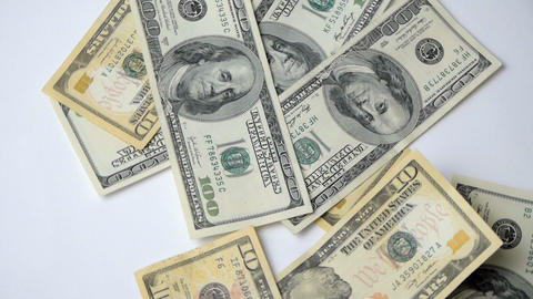 Flying Banknotes Of Dollars stock footage