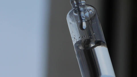 Close-Up Of Intravenous Drip Bottle In Clinic stock footage