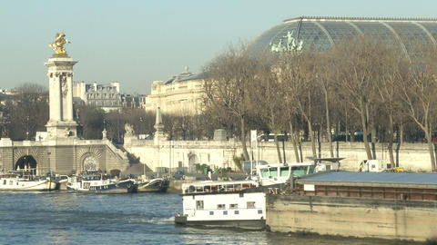 Bridge Alexandre III in Paris Footage