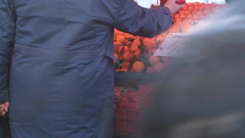 Transaction In The Market Still-Shot Footage