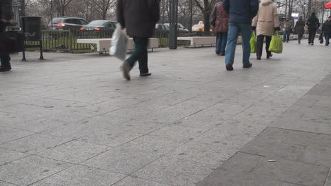 Crowds Of People Walking In A Hurry On A Friday Mo Footage