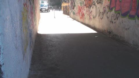 Pass In Downtown Bucharest Tilt-Shot Footage