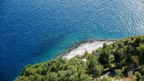 Coastline aerial view Footage