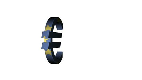 European Union Euro Flag Reflection stock footage