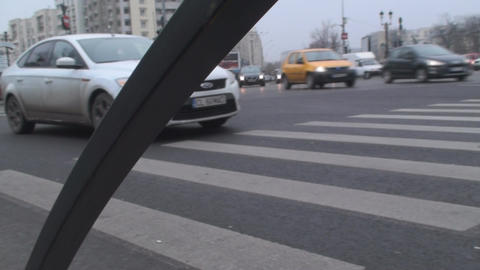 Monday Morning Traffic In Downtown Bucharest Low A Footage