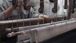 Carpets weaving closeup, Iran Footage