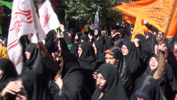 Women celebrate religious event in Iran Footage