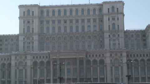 House Of Parliament In Bucharest Tilt-Shot stock footage
