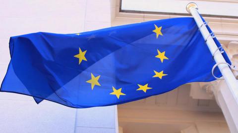 EU flag Footage