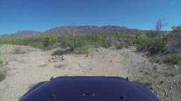 2K Jeep Off Roading POV stock footage