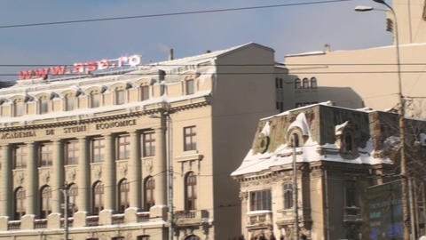 Academy Of Economic Study In Bucharest Pan-Shot Footage