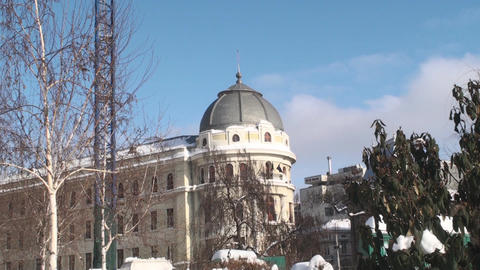 Old Building In Downtown Bucharest Still Shot Footage