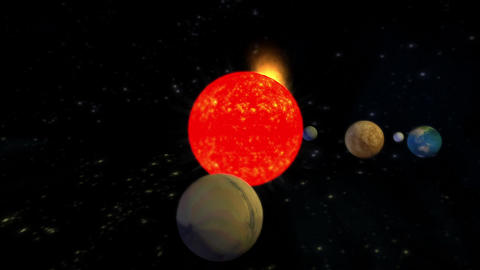 The Solar System Planets Universe,Planets Orbiting stock footage