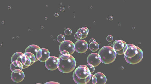Blisters & floating bubble generation underwater,water liquid gray backgroun Animation