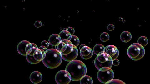 Blisters & floating bubble generation underwater,water liquid black backgrou Animation