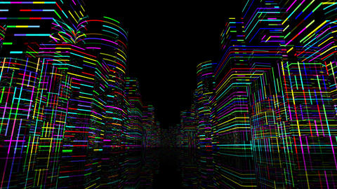 Neon Light City F 1 A 1 4k Animation