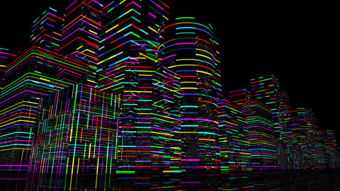 Neon Light City F 3 A 1 4k Animation