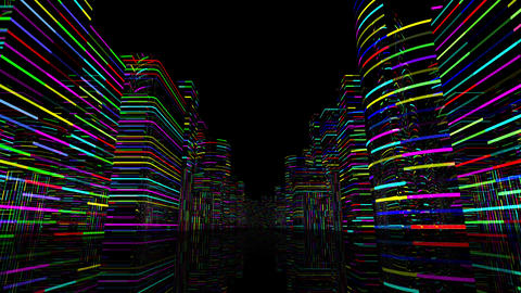 Neon Light City Z 1 A 1 4k Animation