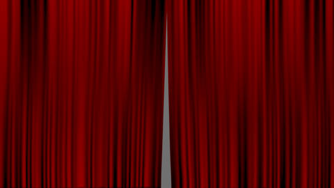 red curtain CG動画