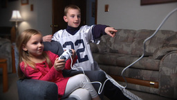 Kids Play Video Game Footage