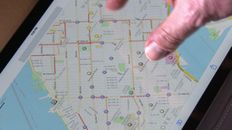 4K Map Of New York On An IPad stock footage