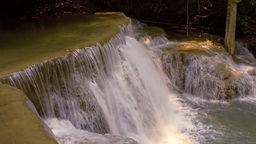 Close Up Of The Top Of A Waterfall In Kanchanaburi stock footage