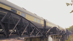 Eastern & Oriental Express Train Travelling Over T stock footage