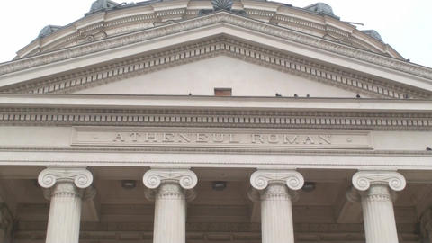 Athenaeum In Bucharest Zoom In-Shot stock footage
