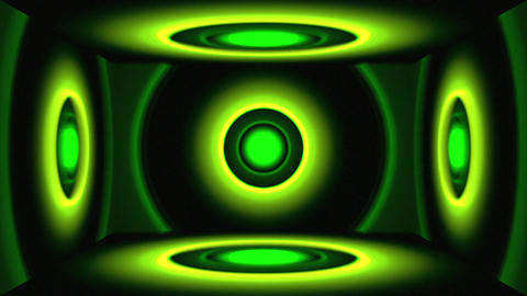 Light Circles Cube Green Animation