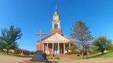 Raley Chapel At Oklahoma Baptist University stock footage