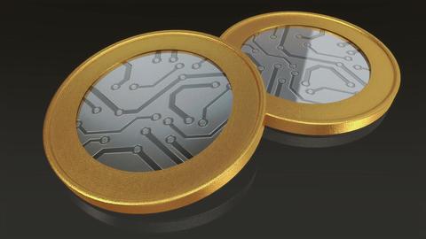 digital gold silver max coins pan Animation