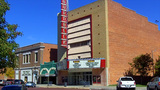Shops And Hornbeck Movie Theater In Shawnee OK stock footage