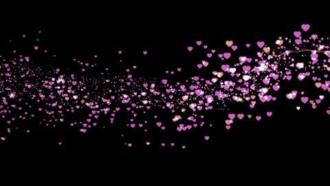 Heart splash CG動画素材