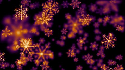 Snow crystal orange Animation