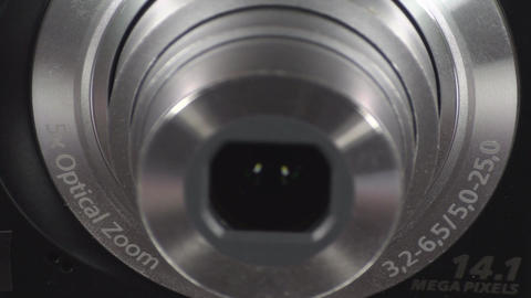 Digital Camera Lens Turning On stock footage