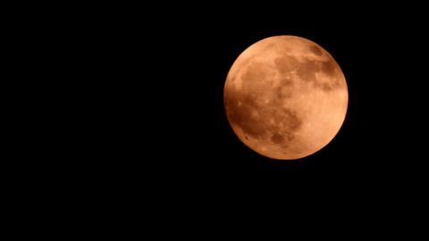 Full Moon Orange stock footage