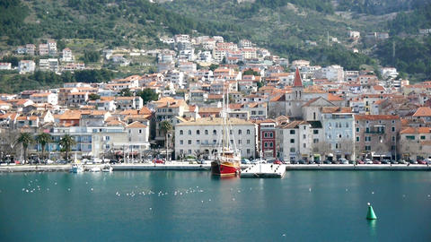 City Of Makarska stock footage