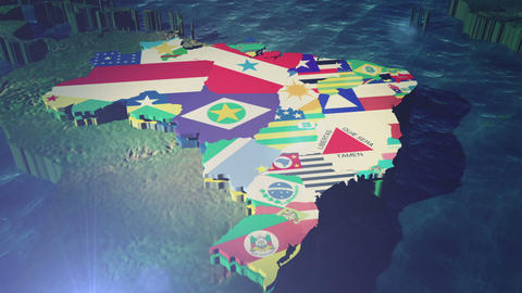 Brazil States World Cup Games (with State Text) stock footage