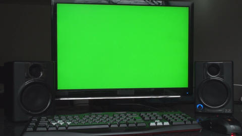 Studio Workstation With Green Screen Studio Speake Live Action