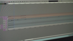 Video Editing Software Going Through The Timeline Footage