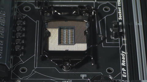 The CPU Socket Close Up Live Action