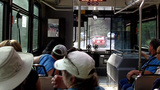 Tourists Riding Bus In Yosemite National Park 1 stock footage