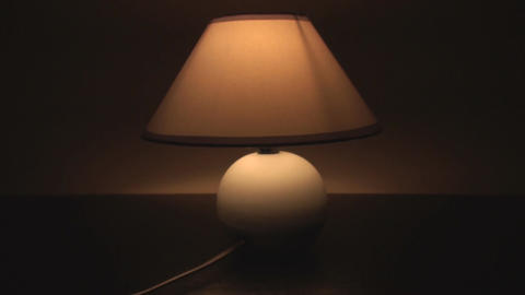 Lamp Turning Off In The Dark, Light, Bulb, Energy, Footage