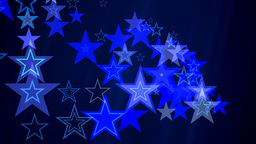 Stars And Diagonal Waves On Deep Blue Background stock footage