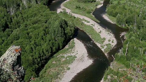 Siberian River stock footage