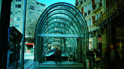 Bilbao metro is a modern design and is designed by Live Action