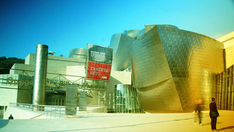 Guggenheim Museum Bilbao ,time Lapse,4K Live Action