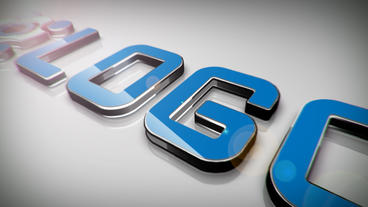 Simple 3D Logo stock footage